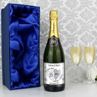 Personalised A Perfect Love Silver Champagne with Gift Box