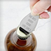 Personalised Any Message Bottle Opener Keyring