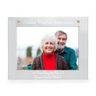 Personalised Silver 5x7 Golden Anniversary Landscape Photo Frame
