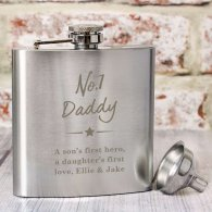 Personalised 'No.1' Hip Flask