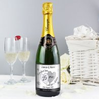 Personalised A Perfect Love Silver Champagne