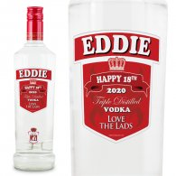 Smirnoff Vodka Personalised Bottle Gift Age 70cl