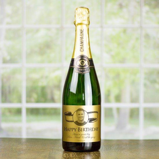 PERSONALISED baroque photo wine label Birthday Anniversary Wedding Engagement