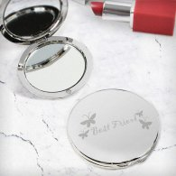 Best Friend Round Compact Mirror