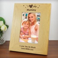 Personalised I Heart My 6x4 Wooden Photo Frame