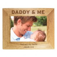 Personalised Daddy & Me 5x7 Wooden Photo Frame