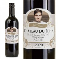 Best Man Gift Personalised Wine Wedding Present