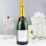 Personalised Engagement Hearts Champagne
