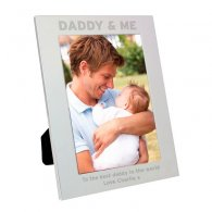 Personalised Silver 5x7 Daddy & Me Photo Frame