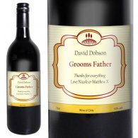Personalised Red Wine Classic Label with Gift Box