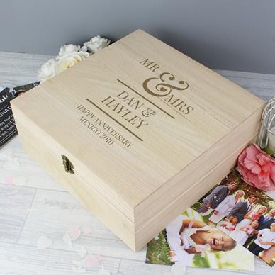Wedding Wooden Gift Box