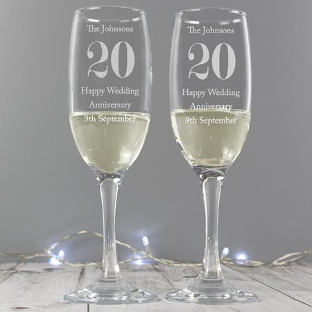 Personalised Champagne Flutes Gifts Set