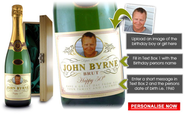 30th Birthday Gift Personalised Champagne