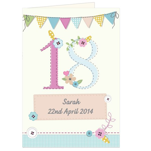 Personalised Birthday Craft Card Gc00455 9 99