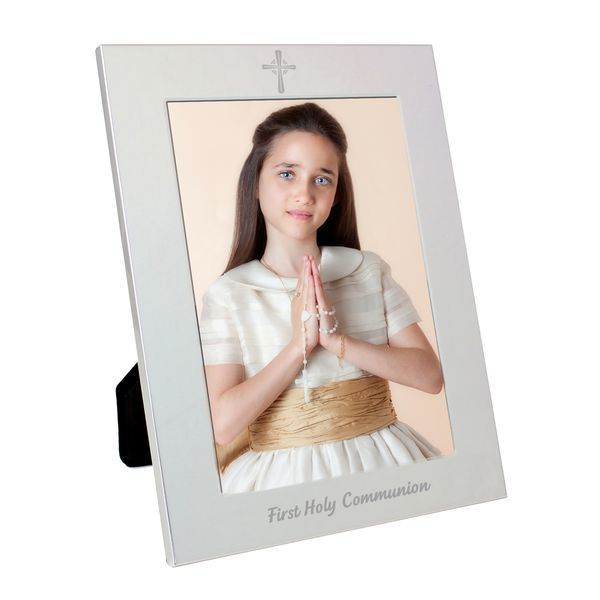 Silver 5x7 Holy Communion Photo Frame Np0102e96 19 99