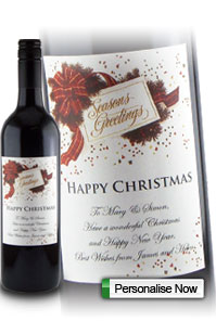 Personalised Christmas Wine Gifts