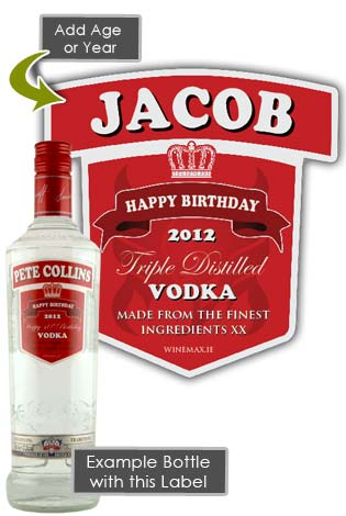 60th Anniversary Gifts >> Smirnoff Vodka Personalised Bottle Gift Age 70cl [SMIR2] - €37.99 : Birthday Presents ...