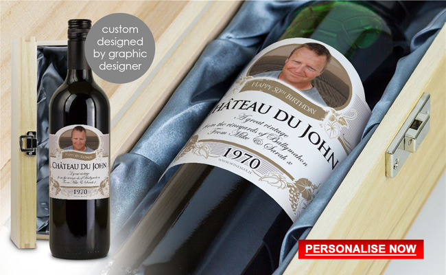 Personalised 50th Birthday Gift Ireland Funny Idea Wine