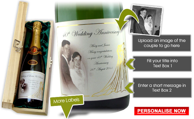 What Gift For 40th Wedding Anniversary: Personalised 40th Anniversary
