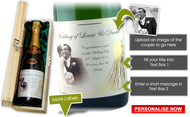 Personalised Champagne Wedding Gift