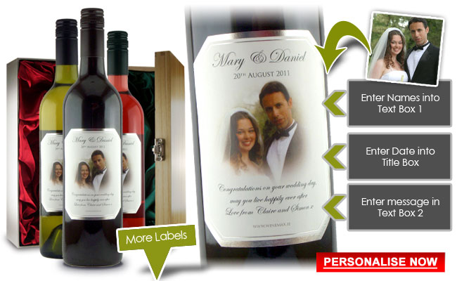 Personalised Wine Wedding Gift