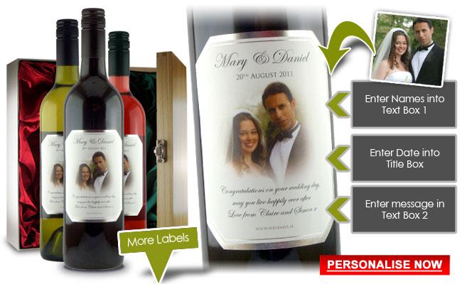 Wine Bottle Wedding Gift Idea : Wedding Gifts - Wedding Gifts Ireland - Personalised Wedding Presents ...