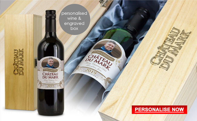 Personalised Wine Engraved Wooden Wine Box Gift Set