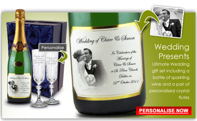 Wedding and Engagement Gift Present Champagne